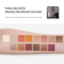 Load image into Gallery viewer, Egypt Collection 16 Colors Earth Tones Eyeshadow  Palette WaterProof Glitter Matt Eye Shadow sombra