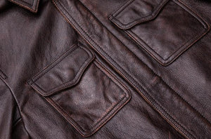 Black Real Leather Jacket Men 100% Natural Calf Skin Red Brown Leather Jackets Men's Leather Coat Autumn