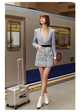 Load image into Gallery viewer, fashion Designer Coat woman Blazer-Dress Women's Button Sexy slim Mini Dress Blazer