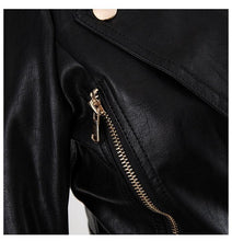 Load image into Gallery viewer, Women Leather Jacket  Baroque Designer Jacket Women's Faux Leather Short Jacket