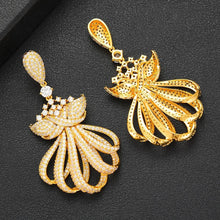 Load image into Gallery viewer, Luxury Statement Necklace Earring Bangle Ring Sets Jewelry Sets For Women Cubic Zircon Wedding Bridal Jewelry Set