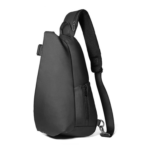 Men Chest Bag For 12 inch ipad Multifunction Crossbody Bags USB Charging Travel Shoulder Bag Water Repellent