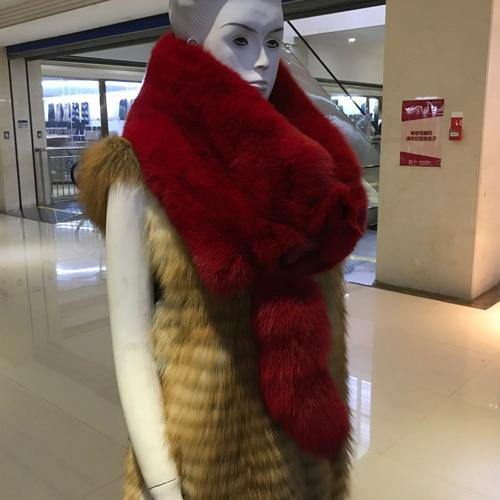 Real Fox Fur Scarf For Women Fashion Winter Genuine Fur Collar Scarves Warm Real Fox Fur Scarf