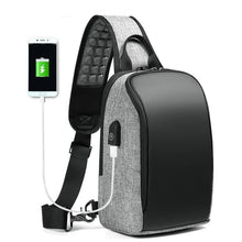 Load image into Gallery viewer, Casual Crossbody Bag for Men 9.7 inch iPad Messenger Bags with USB Charging Port Chest Pack Male