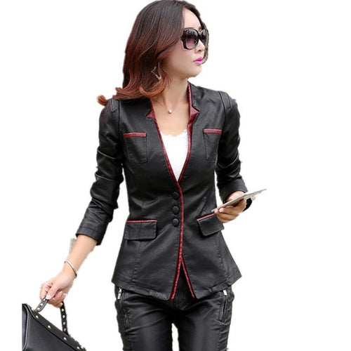 women leather jacket casual leather coat women's clothing Motorcycle jackets leather