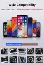 Load image into Gallery viewer, Qi Car Wireless Charger For iPhone XS Max X 8 10W Fast Wireless Charging Car Mount Holder For Samsung Huawei Xiaomi
