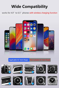 Qi Car Wireless Charger For iPhone XS Max X 8 10W Fast Wireless Charging Car Mount Holder For Samsung Huawei Xiaomi