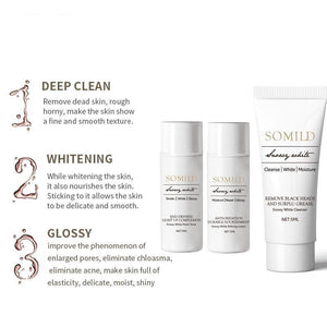 Whitening Skin Care Set Travel Suit Moisturizing Face Cream Blackhead Remove Cleanser Facial Serum Whiten Korea Cosmetics