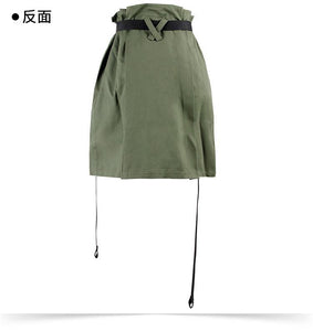 High Waist Flower Skirt Female A Word Skirt Ladies Wild Pocket Zipper Tooling Short Skirt