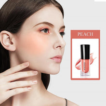 Load image into Gallery viewer, 4 colors Baked Cheek Face Blusher Liquid Facial Blush Natural Cheek Blusher Long Lasting Peach Cheek Cosmetic