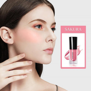 4 colors Baked Cheek Face Blusher Liquid Facial Blush Natural Cheek Blusher Long Lasting Peach Cheek Cosmetic