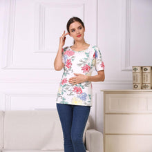 Load image into Gallery viewer, Fashion Floral Maternity Clothes for Pregnancy Breastfeeding Dresses for Pregnant Women Maternity Nursing Dress