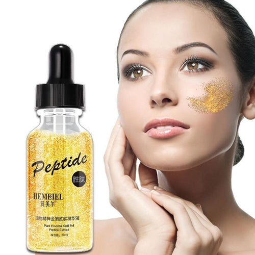 24K Gold Peptide Face Serum Anti Aging Wrinkle Removal Whitening Facial Essence Skin Care Nature Herb Cream Korea Beauty
