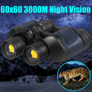 HD Day Night Vision Binoculars Telescope 60x60 3000M for Outdoor Travel Hunting Camping Hiking