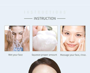 Enzyme Whitening Cleanser Foaming Face Wash Korean Moisturizing Deep Cleansing Nourishing Skin Care Shrink Pores