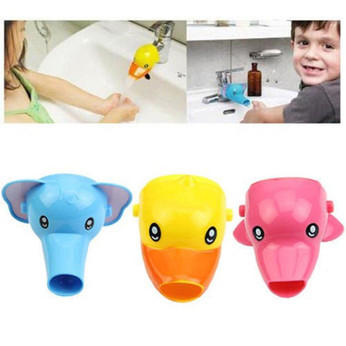 Cute Animal Faucet Extender Wash Hands Tubs Water Saver Kitchen Bathroom Sink Tap Extender