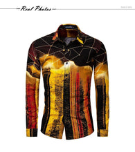 Load image into Gallery viewer, Fashion Men Shirts Hip Hop Slim Fit Long Sleeve Hawaiian Shirt Casual Streetwear Male 3D Print Shirt 30