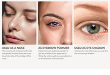 Load image into Gallery viewer, 3 Colors Eyebrow Powder Palette Eye Brow Makeup Kit For Brows And High Nose Waterproof Long Lasting Eyebrow