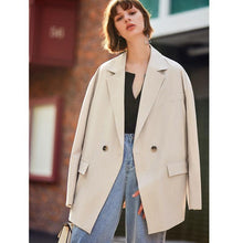 Load image into Gallery viewer, Women Solid loose Blazer Belted streetwear Lady Outerwear Casual Women Double-Breasted Button Blazer