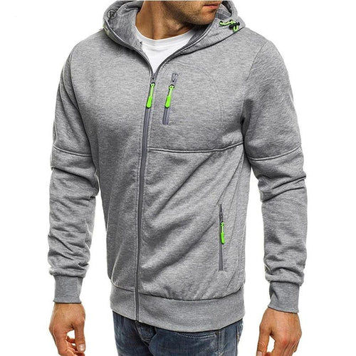 Hooded Casual Zipper Sweatshirts Male Tracksuit Fashion Jacket Mens Clothing Outerwear