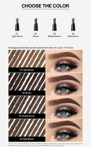 Eyebrow Pen Waterproof Long Lasting Eyebrow Tattoo Pencil 4 Colors Eye Brow Enhancer Tint Natural Cosmetic Makeup