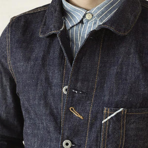 cotton denim jacket casual stylish raw unwashed storm rider denim coat
