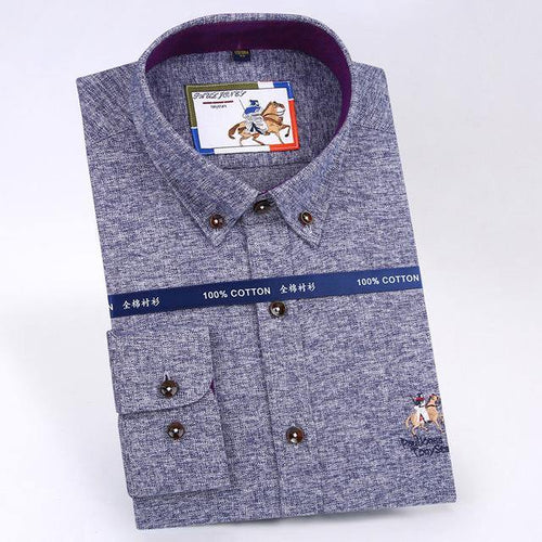 Men's Smart Casual Shirts Winter Warm High Quality Men Long Sleeve Social Shirts Business Shirts