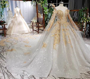 women wedding dresses with sleeve shawl applique luxury formal wedding party dresses robe de mariage