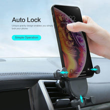 Load image into Gallery viewer, Gravity Car Phone Holder Air Vent Clip Mount Phone Car Holder For iPhone X XR XS Mobil Phone Stand For Samsung Galaxy S9