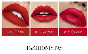 Lipstick Matte Silky Lips Makeup Waterproof  Velvet Lip Stick 12 Colors Rich Color Tint Lipstick Pen Beauty Cosmetic
