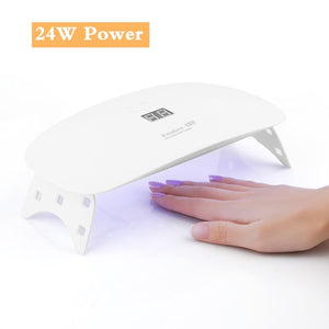 24/48W UV Lamp For Nail Polish Dryer 30 LEDs Light Drying Fingernail&Toenail Gel Curing Nail Art Tools Salon Manicure Machine