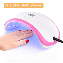 Load image into Gallery viewer, 24/48W UV Lamp For Nail Polish Dryer 30 LEDs Light Drying Fingernail&Toenail Gel Curing Nail Art Tools Salon Manicure Machine