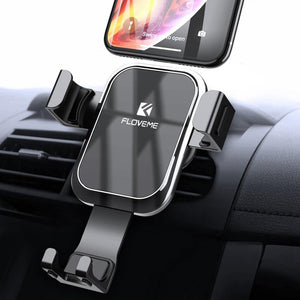 Gravity Car Phone Holder Stand for Mobile Phone in Car Luxury Auto Locked Mirror Holder for iPhone Xiaomi