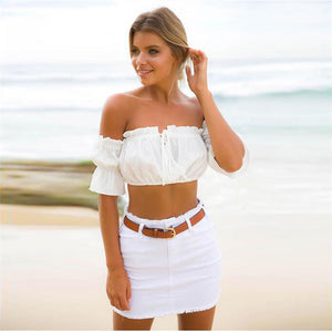 sleeve sexy strapless beach tops plus size red black white ruched crop top tank top