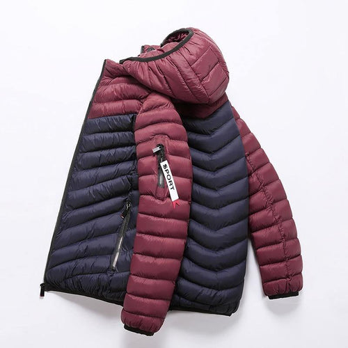 Jacket Men Winter Windproof Jackets Male Big Size New Arrival Casual Slim Fit With Hooded Parkas