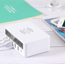 Load image into Gallery viewer, 100W Wireless PD Type C QC3.0 USB Charger LED Display Fast Dock Station Travel Quick Charge 3.0 QC 4.0 For iPhone 11 Pro