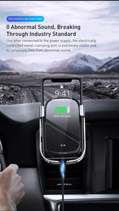10W Car Qi Wireless Charger For iPhone 11 Pro XS Max Samsung Car Phone Holder Intelligent Infrared Fast Wireless Charging