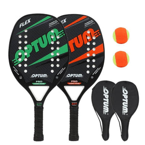 Beach tennis Racquet set FLEX Beach Tennis Racket/Tennis Paddle Set,2 Paddles,2 Balls,and 2 Cover Bags.