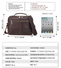 Load image into Gallery viewer, 100% Genuine Leather Crossbody Bags for Men Casual Business Male Messenger Bag Brand High Quality Tote Handbags