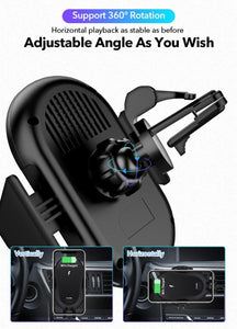 15W Car Mount Wireless Charger for iphone 11 pro Xs Xr X Car phone holder Fast Charging For HUAWEI P30 Samsung S10 S9