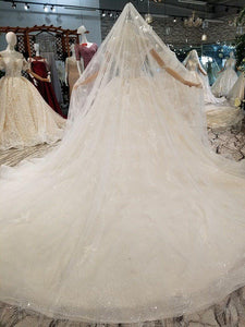 wedding dress ball gown short sleeve lace beaded sexy illusion wedding gown with veil