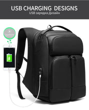 Load image into Gallery viewer, Men Travel Backpack High capacity Multi-layer Space 15.6 inch Laptop Bag Male USB Charging Backpacks Waterproof