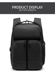 Men Travel Backpack High capacity Multi-layer Space 15.6 inch Laptop Bag Male USB Charging Backpacks Waterproof