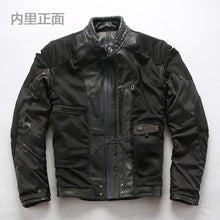Load image into Gallery viewer, Men's super quality men's genuine cow leather coat cowhide leather rider jacket