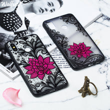 Load image into Gallery viewer, 3D Women Flower Case For Xiaomi Mi 8 Case Relief Soft Silicone Edge Hard Back Cover For Xiaomi Mi 8 Case For Xiaomi Mi 8 Celular