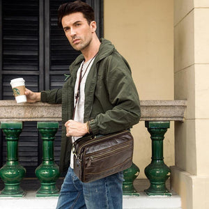 new oil cow leather men's messenger bag male satchel bag men crossbody bags big casual shoulder bags