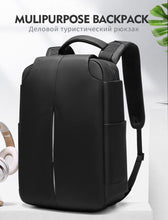 Load image into Gallery viewer, Men Business Backpack Fit 15.6 inch Laptop Anti-theft Bag Water Repellent Travel Backpacks Male