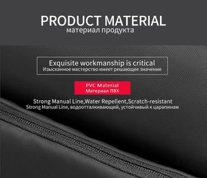 Men Business Backpack Fit 15.6 inch Laptop Anti-theft Bag Water Repellent Travel Backpacks Male