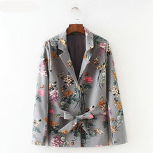 Load image into Gallery viewer, women vintage plaid blazer female long sleeve elegant jacket ladies casual blazer Coat Jacket