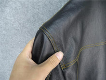 Load image into Gallery viewer, genuine cow skin leather jacket men's cowhide casual vintage leather jacket